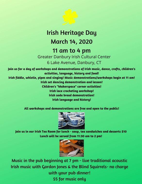 Irish Heritage Day March 14 2020 redux